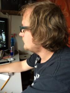 Oliver in seinem Studio